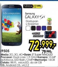 Mobilni telefon Galaxy S4 I9505 + poklon fotoaparat