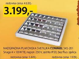 Nadgradna plafonska svetiljka Commel 345-201