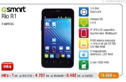 Mobilni telefon GSmart Rio R1
