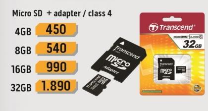 Micro SD 4Gb sa adapterom