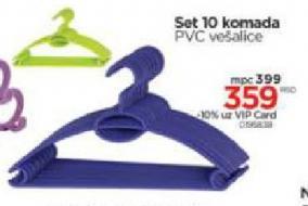 PVC vešalice