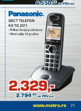 Telefon KX-TG2511
