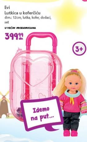 Igračka Evi lutkica u koferčiću