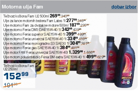 Motorna ulja - Fenix DM3 DAE15W-40