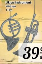 Novogodišnji ukras instrument