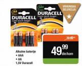 Duracell Alkalne baterije AAA, AA