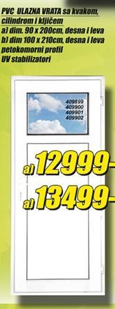 Ulazna PVC vrata 90x200