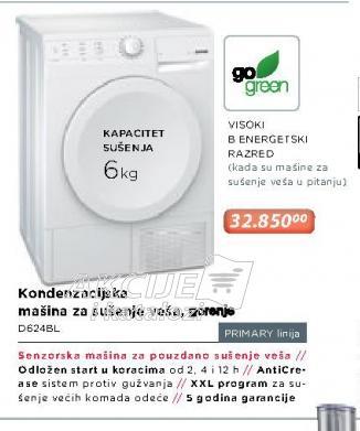 Mašina za sušenje veša D624BL