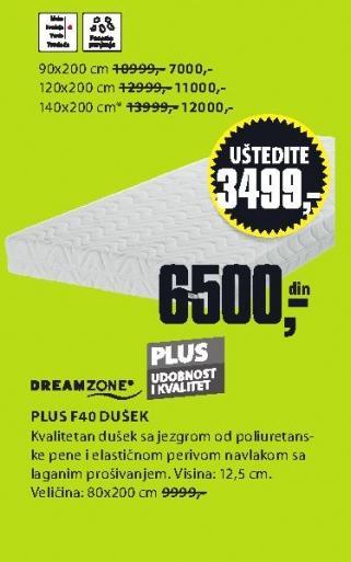 Dušek Plus F40 140x200