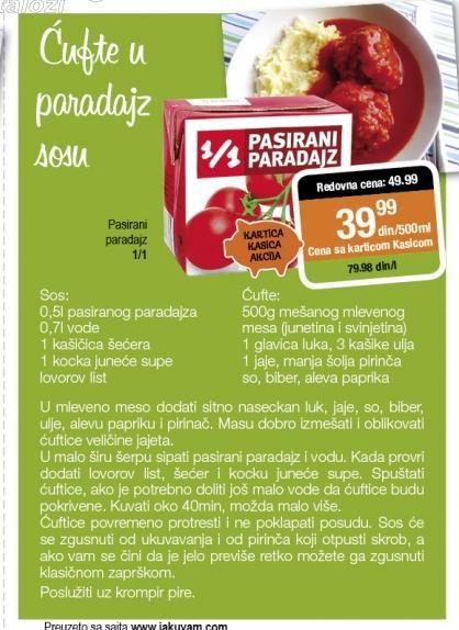 Recept - Ćufte u paradajz sosu