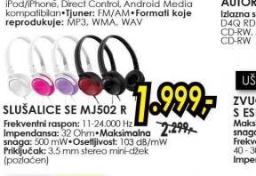 Slušalice SE-MJ502-K