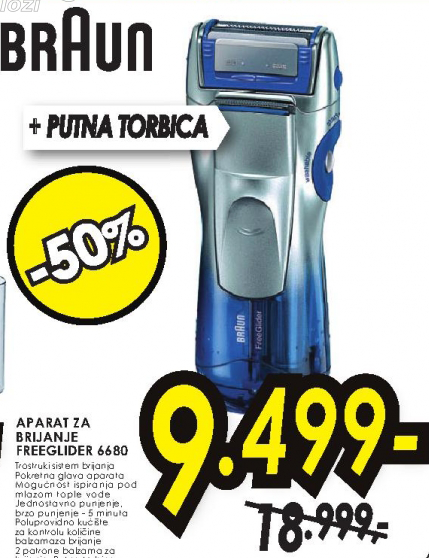 Aparat za brijanje 6680/FREE GLIDER