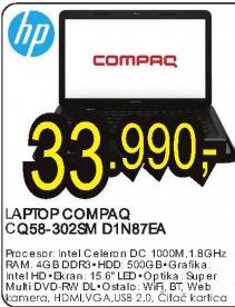 Laptop Compaq CQ58-302SM D1N87EA