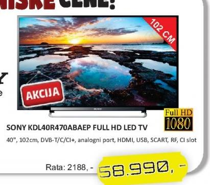 "Televizor LED 40"" KDL-40R470ABAEP"