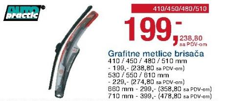 Grafitne metlice brisača AutoPractic