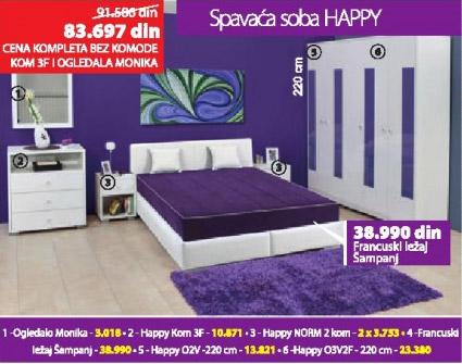 Spavaca soba HAPPY