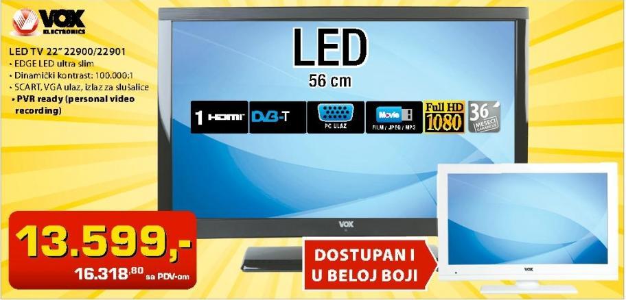 "Televizor LED 22"" 22900"