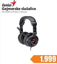 Slušalice gejmerske HS-G500V