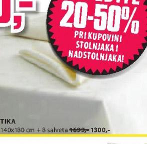 Stolnjak Tika + 8 salveta