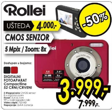 Digitalni foto aparat Compactline Rollei