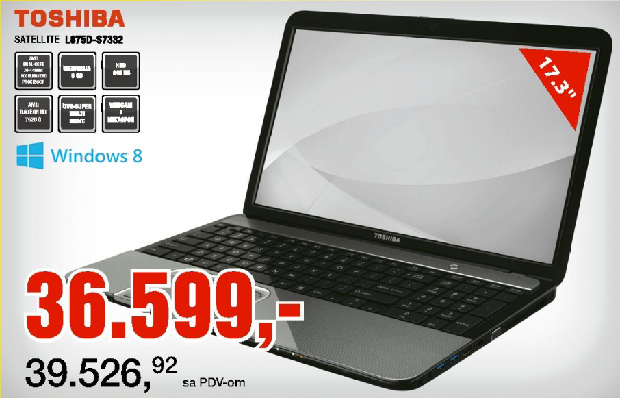 Laptop Satellite C875D-S7332