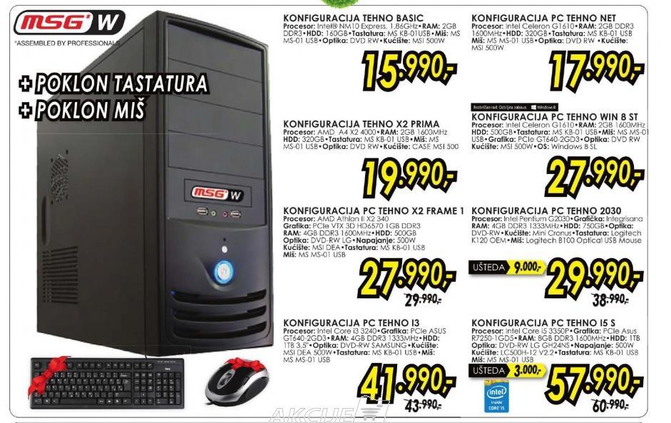 Konfiguracija PC TEHNO X2 ST