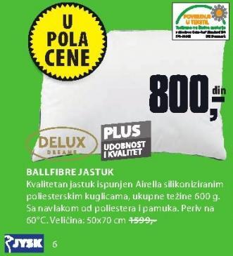 Jastuk Ballfibre