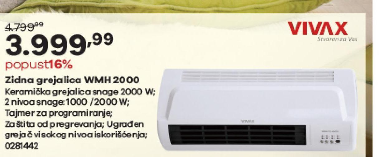 Grejalica 2000W