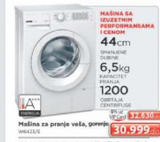 Mašina za pranje veš W6423/S