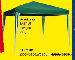 Stranica za paviljon Easy Up
