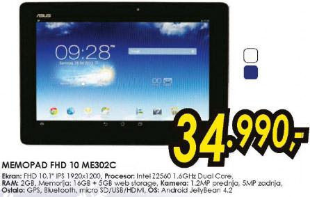 Tablet MemoPad FHD 10 ME302C
