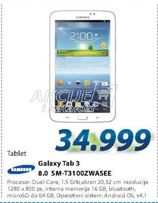 Tablet SM-T3100ZWASEE GALAXY TAB 3 8.0