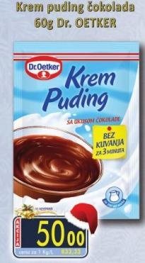 Puding krem čokolada