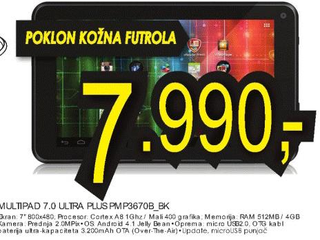 Multipad Ultra Plus Pmp3670B_BK