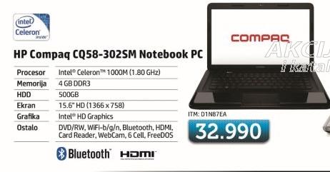 Laptop CQ58-302sm