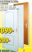 Sobna vrata Kraft Master 90/15 luk bela