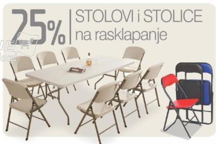 Stolovi i stolice na rasklapanje na popustu