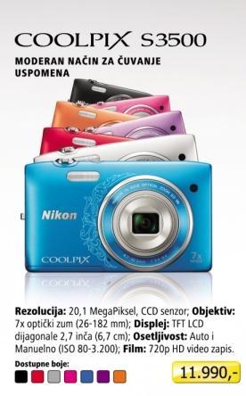 Digitalni fotoaparat  Coolpix S3500