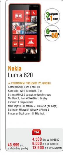 Telefon mobilni Lumia 820