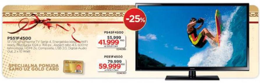 Plazma Televizor PS43-F4500