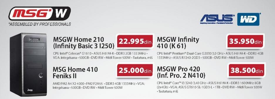 Računar MSGW Infinity 410 K 61