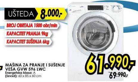 Mašina za pranje i sušenje veša Gvw 596 lwc