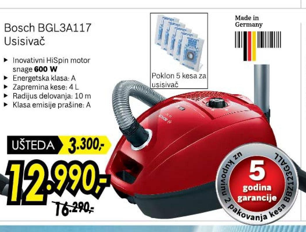 Usisivač BGL 3A 117