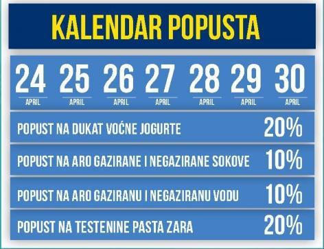 Kalendar popusta