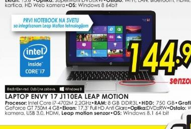 Laptop ENVY 17-j110ea Leap Motion SE E9L17EA