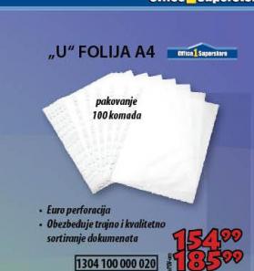 Folija ''U'' A4