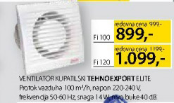 Ventilator kupatilski Tehnoexport Elite Fi100