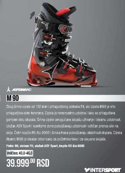 Skijaške cipele M90, ATOMIC