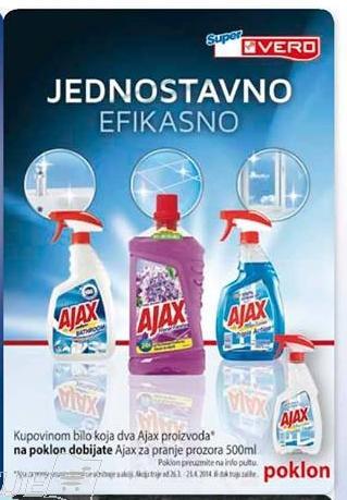 Akcija - Ajax za pranje prozora na poklon