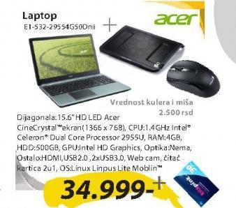 Laptop Aspire E1-532-29554G50Dnii